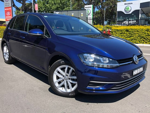 Used Volkswagen Golf 7.5 MY18 110TSI, 2018 Volkswagen Golf 7.5 MY18 110TSI Blue 6 Speed Manual Hatchback