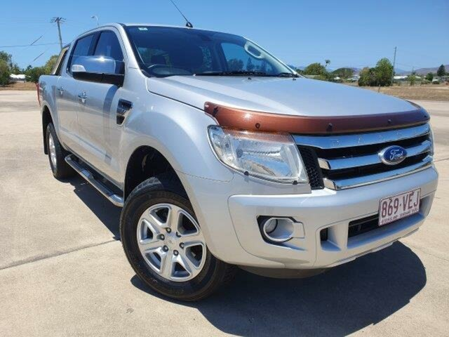 Used Ford Ranger PX XLT Double Cab, 2014 Ford Ranger PX XLT Double Cab Highlight Silver 6 Speed Sports Automatic Utility