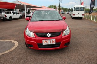 2011 Suzuki SX4 GYA MY10 Red Mica 6 Speed Manual Hatchback.