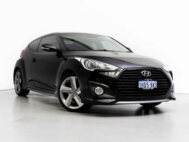 Used Hyundai Veloster FS MY13 SR Turbo, 2013 Hyundai Veloster FS MY13 SR Turbo Black 6 Speed Manual Coupe