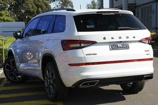 2020 Skoda Kodiaq NS MY21 RS DSG Moon White 7 Speed Sports Automatic Dual Clutch Wagon.