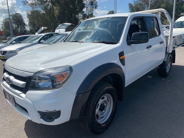 Used Ford Ranger PK XL Crew Cab 4x2 Hi-Rider, 2009 Ford Ranger PK XL Crew Cab 4x2 Hi-Rider White 5 Speed Manual Double Cab Pick Up