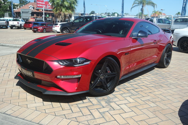 Used Ford Mustang FN 2020MY GT Parramatta, 2019 Ford Mustang FN 2020MY GT Rapid Red 6 Speed Manual Fastback