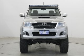 2012 Toyota Hilux KUN26R MY12 SR5 Xtra Cab Silver 5 Speed Manual Utility.