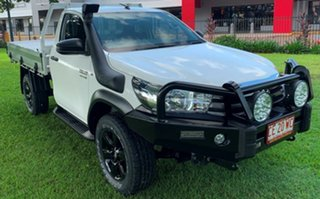 2017 Toyota Hilux GUN126R SR White 6 Speed Sports Automatic Cab Chassis.