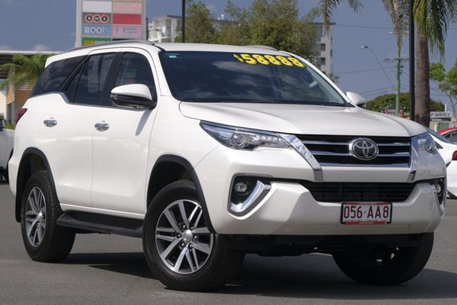 Pre-Owned Toyota Fortuner GUN156R Crusade Woolloongabba, 2019 Toyota Fortuner GUN156R Crusade Crystal Pearl 6 Speed Automatic Wagon