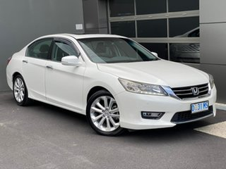 2013 Honda Accord 9th Gen MY13 VTi-L White 5 Speed Sports Automatic Sedan.