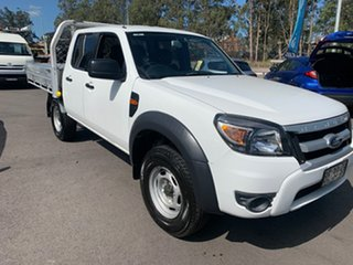 2009 Ford Ranger PK XL Crew Cab 4x2 Hi-Rider White 5 Speed Manual Double Cab Pick Up.