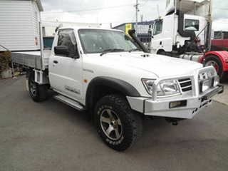 2005 Nissan Patrol GU ST (4x4) White 5 Speed Manual Coil Cab Chassis