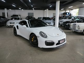 2014 Porsche 911 991 MY15 Turbo PDK AWD S White 7 Speed Sports Automatic Dual Clutch Coupe.