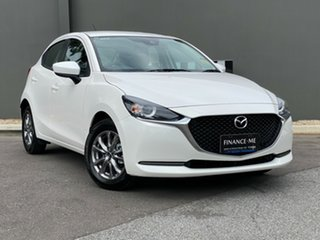 2020 Mazda 2 DJ2HAA G15 SKYACTIV-Drive Pure Snowflake White 6 Speed Sports Automatic Hatchback.