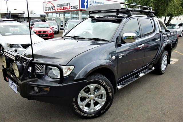 Used Mitsubishi Triton MN MY11 GLX-R Double Cab, 2010 Mitsubishi Triton MN MY11 GLX-R Double Cab Grey 5 Speed Manual Utility
