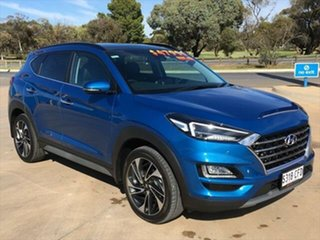 2020 Hyundai Tucson TL3 MY20 Highlander AWD Aqua Blue 8 Speed Sports Automatic Wagon.
