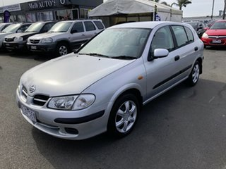 2001 Nissan Pulsar N16 ST Silver 4 Speed Automatic Hatchback.