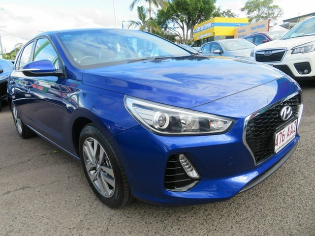 Used Hyundai i30 PD2 MY19 Active, 2018 Hyundai i30 PD2 MY19 Active Blue 6 Speed Sports Automatic Hatchback