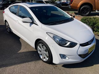 2013 Hyundai Elantra MD2 Premium White 6 Speed Sports Automatic Sedan.