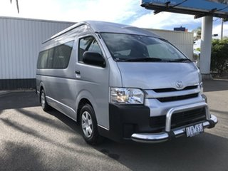2016 Toyota HiAce KDH223R Commuter High Roof Super LWB Silver 4 Speed Automatic Bus.