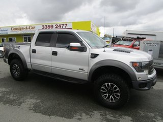 2014 Ford F150 RAPTOR Silver Cab Chassis.