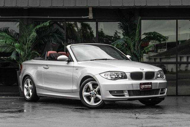 Used BMW 120i E88 MY10 120i Bowen Hills, 2009 BMW 120i E88 MY10 120i Silver 6 Speed Automatic Convertible