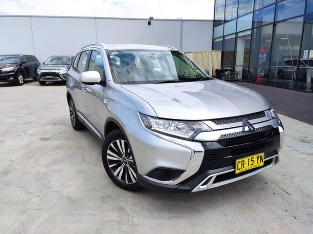 Used Mitsubishi Outlander ZL MY19 ES AWD Liverpool, 2018 Mitsubishi Outlander ZL MY19 ES AWD Silver 6 Speed Constant Variable Wagon