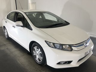 2012 Honda Civic 9th Gen Hybrid White 1 Speed Constant Variable Sedan Hybrid