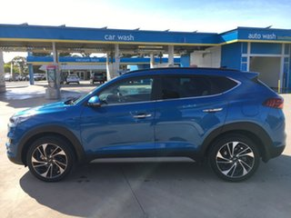 2020 Hyundai Tucson TL3 MY20 Highlander AWD Aqua Blue 8 Speed Sports Automatic Wagon