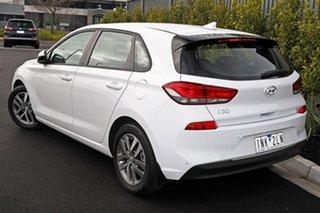 2018 Hyundai i30 White Hatchback.