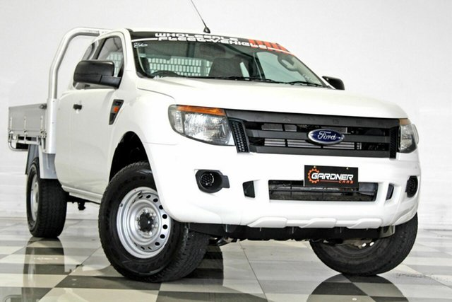 Used Ford Ranger PX XL 2.2 Hi-Rider (4x2), 2014 Ford Ranger PX XL 2.2 Hi-Rider (4x2) White 6 Speed Automatic Super Cab Chassis