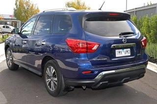 2017 Nissan Pathfinder Blue Wagon.