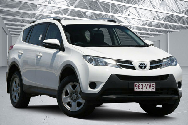 Used Toyota RAV4 ZSA42R MY14 Upgrade GX (2WD) Eagle Farm, 2015 Toyota RAV4 ZSA42R MY14 Upgrade GX (2WD) Glacier White Continuous Variable Wagon