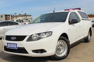 2010 Ford Falcon FG Ute Super Cab White 4 Speed Sports Automatic Utility.