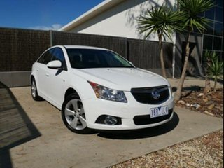 2014 Holden Cruze JH MY14 Equipe White 5 Speed Manual Sedan.