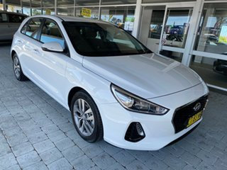 2019 Hyundai i30 Active White Sports Automatic Hatchback.