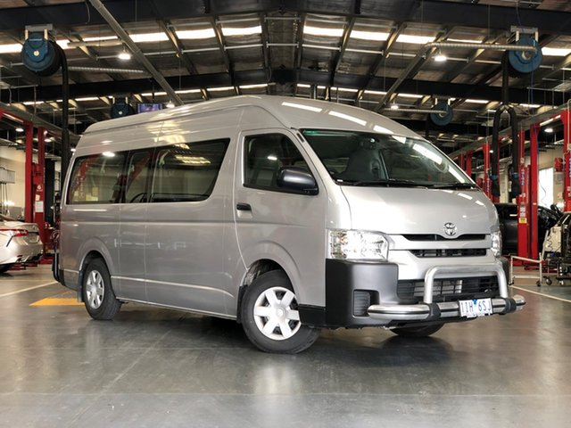 Used Toyota HiAce KDH223R Commuter High Roof Super LWB, 2016 Toyota HiAce KDH223R Commuter High Roof Super LWB Silver 4 Speed Automatic Bus