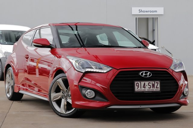 Used Hyundai Veloster FS2 SR Coupe Turbo, 2012 Hyundai Veloster FS2 SR Coupe Turbo Red 6 Speed Sports Automatic Hatchback