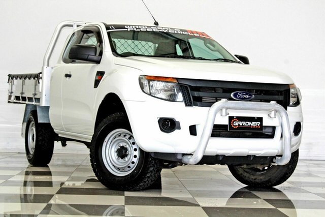 Used Ford Ranger PX XL 2.2 Hi-Rider (4x2) Burleigh Heads, 2015 Ford Ranger PX XL 2.2 Hi-Rider (4x2) White 6 Speed Automatic Super Cab Chassis