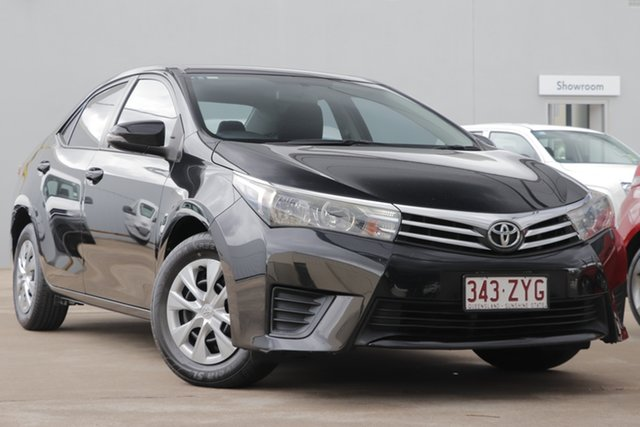 Used Toyota Corolla ZRE172R Ascent S-CVT, 2014 Toyota Corolla ZRE172R Ascent S-CVT Black 7 Speed Constant Variable Sedan