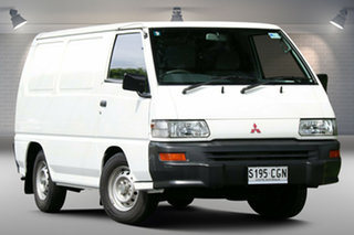 2010 Mitsubishi Express SJ MY10 SWB White 5 Speed Manual Van.