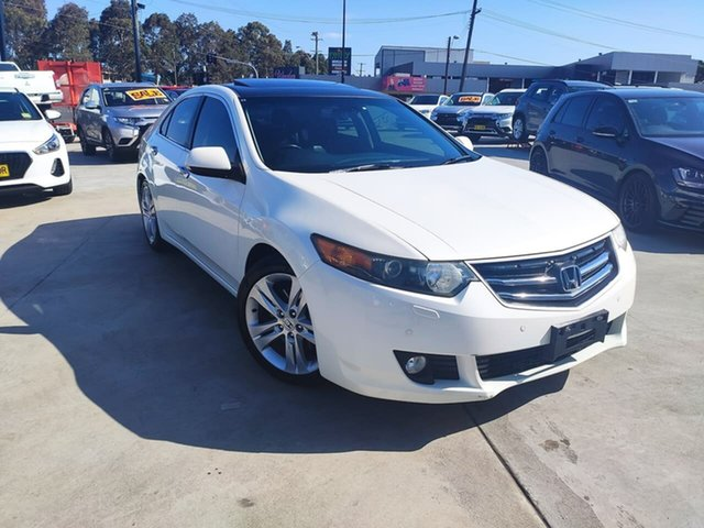 Used Honda Accord Euro CU MY11 Luxury Liverpool, 2011 Honda Accord Euro CU MY11 Luxury White 6 Speed Manual Sedan