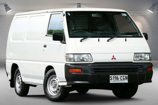 2012 Mitsubishi Express SJ MY12 SWB White 5 Speed Manual Van.