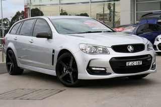 2016 Holden Commodore VF II MY16 SS Sportwagon Black Silver 6 Speed Sports Automatic Wagon.