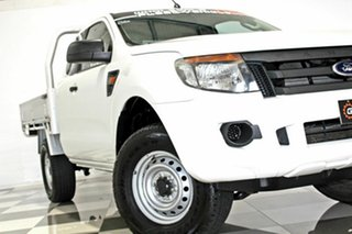 2014 Ford Ranger PX XL 2.2 Hi-Rider (4x2) White 6 Speed Automatic Super Cab Chassis.