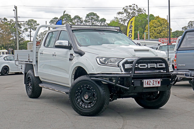 Used Ford Ranger PX MkII XLT Double Cab, 2016 Ford Ranger PX MkII XLT Double Cab Cool White 6 Speed Sports Automatic Utility