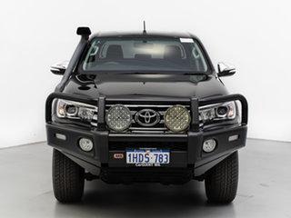 2016 Toyota Hilux GUN126R SR5 (4x4) Black 6 Speed Automatic Dual Cab Utility.
