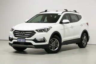 2018 Hyundai Santa Fe DM5 MY18 Active CRDi (4x4) White 6 Speed Automatic Wagon.