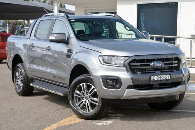 Used Ford Ranger PX MkIII 2020.25MY Wildtrak, 2020 Ford Ranger PX MkIII 2020.25MY Wildtrak Silver 10 Speed Sports Automatic Double Cab Pick Up