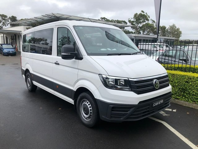 Demo Volkswagen Crafter SY1 MY20 Minibus MWB FWD TDI410 Botany, 2020 Volkswagen Crafter SY1 MY20 Minibus MWB FWD TDI410 White 8 Speed Automatic Bus
