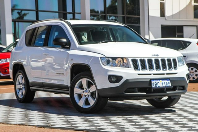 Used Jeep Compass MK MY13 Sport CVT Auto Stick, 2013 Jeep Compass MK MY13 Sport CVT Auto Stick White 6 Speed Constant Variable Wagon