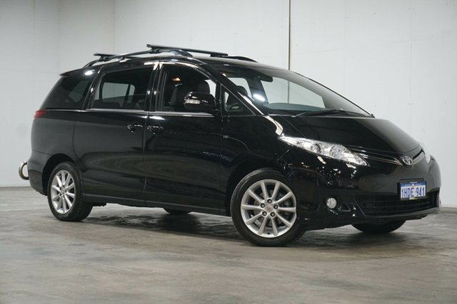 Used Toyota Tarago GSR50R GLX Welshpool, 2018 Toyota Tarago GSR50R GLX Black 6 Speed Sports Automatic Wagon
