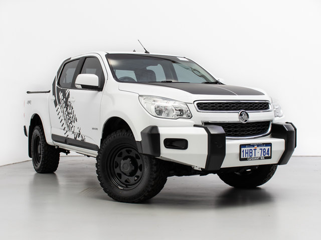 Used Holden Colorado RG MY14 LT (4x4), 2013 Holden Colorado RG MY14 LT (4x4) White 6 Speed Manual Crew Cab Pickup